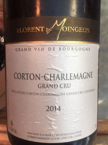 Domaine Moingeon Corton Charlemagne Grand Cru