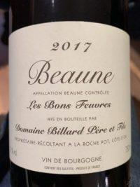 Domaine Billard Beaune Les Bons Feuvres